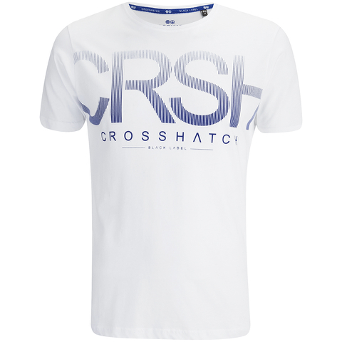 Crosshatch Men's Crusher Graphic T-Shirt - White