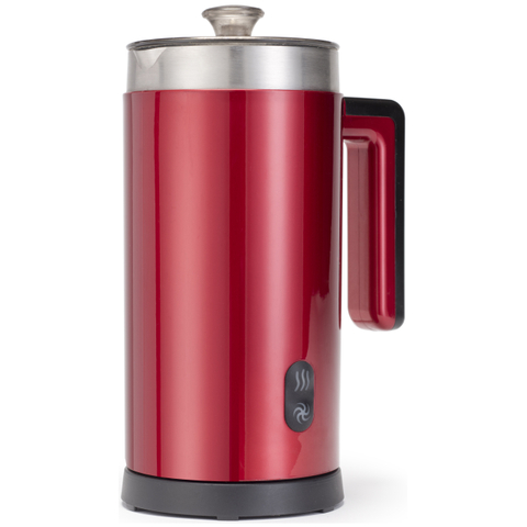 Gourmet Gadgetry Retro Diner Milk Frother and Hot Chocolate Maker - Retro Red - 0.55L