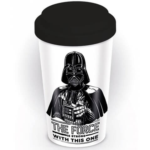 Star Wars 'The Force Is Strong' Ceramic Travel Mug - Black