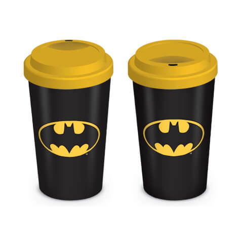 DC Comics Batman Ceramic Travel Mug - Black