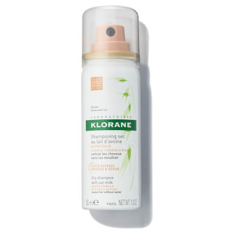KLORANE Dry Shampoo with Oat Milk - Natural Tint - Travel Size 1.0oz
