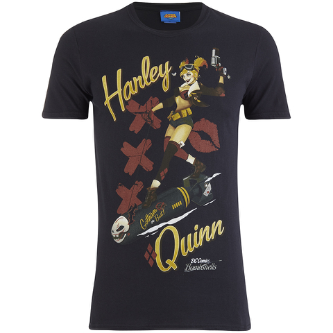 DC Comics Bombshells Men's Harley Quinn T-Shirt - Black