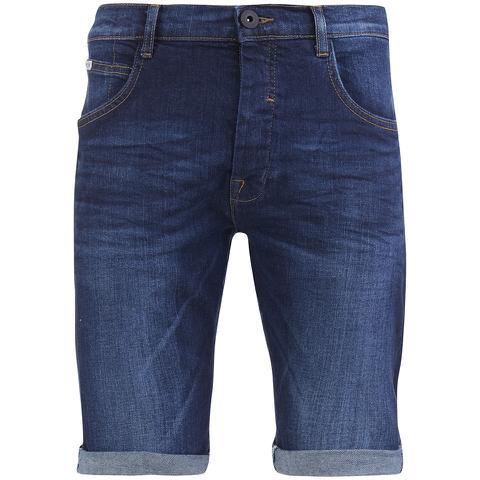 Crosshatch Men's Skylo Denim Shorts - Dark Wash