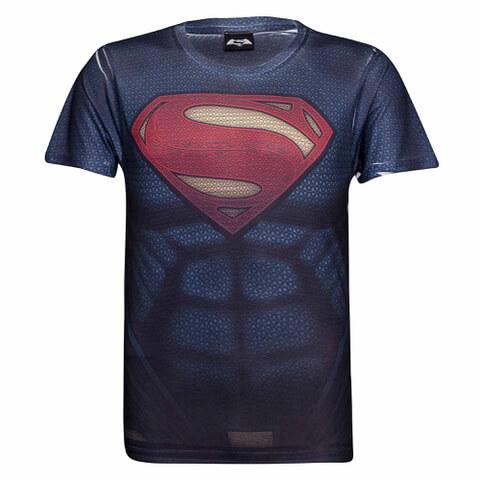 DC Comics Superman Muscle Heren T-Shirt -Blauw