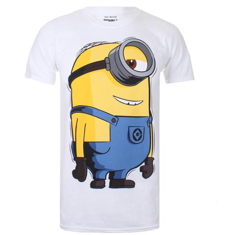 Minions Large Stuart Heren T-Shirt - Wit