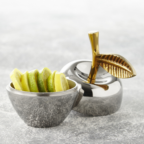 Apple Trinket Pot - Stainless Steel