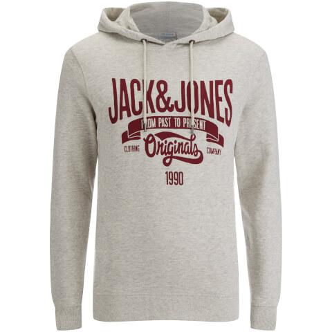 Jack & Jones Men's Originals Oskar Hoody - Treated White