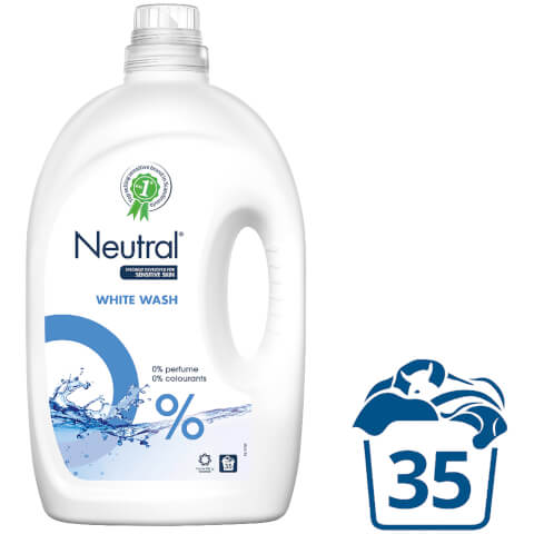 Neutral 0% White Liquid Laundry Detergent - 2625ml