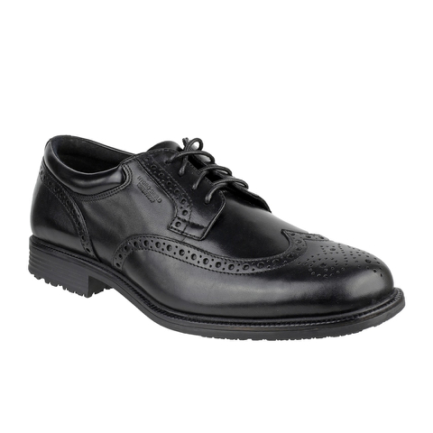 Rockport Men's Essential Details Waterproof Wingtip Shoes - Black