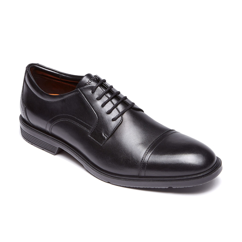 Rockport Men's City Smart Cap Toe Brogues - Black