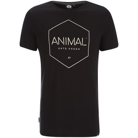 Animal Men's Longtide T-Shirt - Black