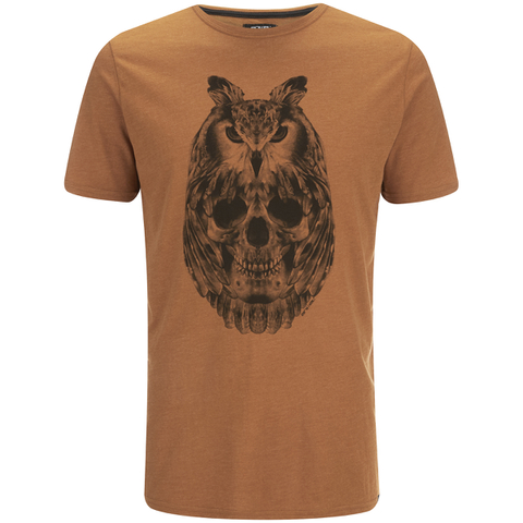 Animal Men's Owly T-Shirt - Leather Brown Marl