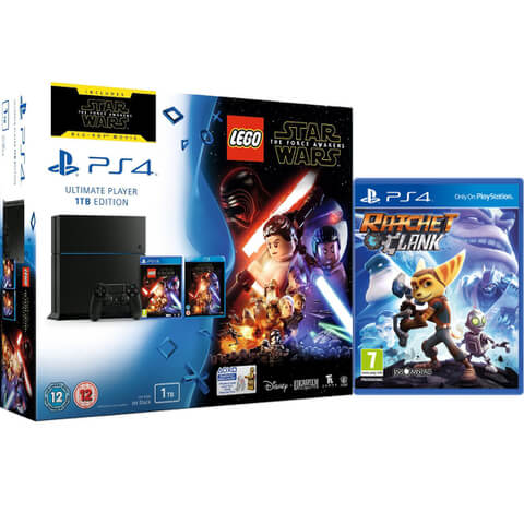 Sony PlayStation 4 1TB - Includes LEGO Star Wars: The Force Awakens, Star Wars: The Force Awakens and Ratchet & Clank