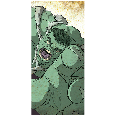 Green Giant Hulk Inspired Fine Art Print - 16.5