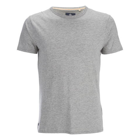 Threadbare Men's William Plain Crew Neck T-Shirt - Grey Marl