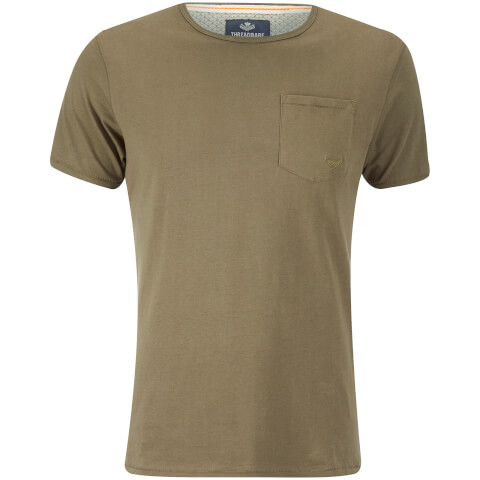 Threadbare Men's Jack Pocket Crew Neck T-Shirt - Khaki