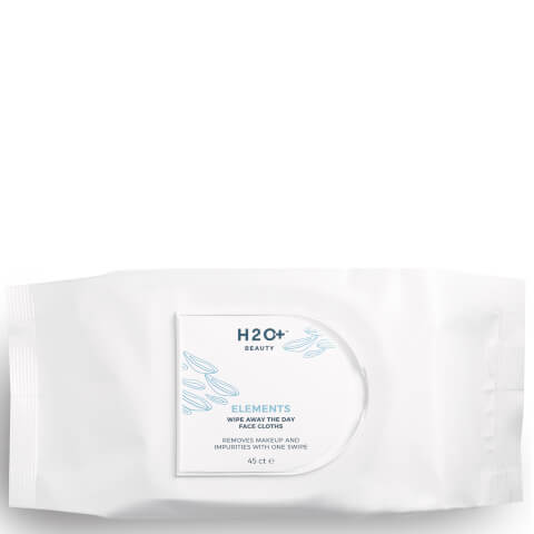 H2O+ Beauty Elements Wipe Away the Day Face Cloths (45 Pack)