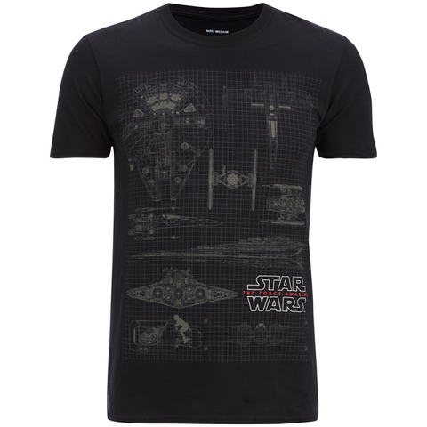 Star Wars Mens Fleet Schematic T-Shirt - Zwart