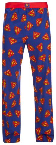 DC Comics Superman Men's Logo Lounge Pants - Blue