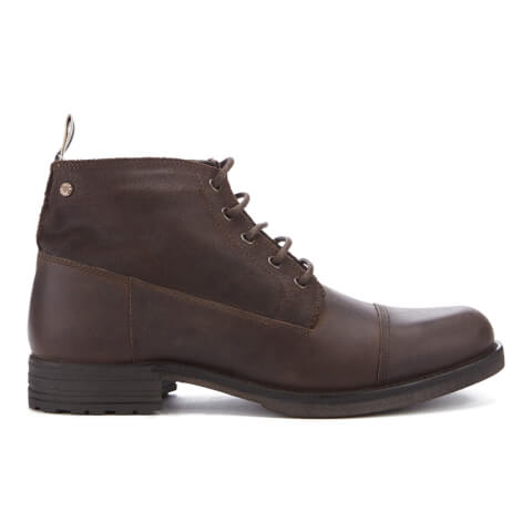 Jack & Jones Men's Sirca Leather Lace Up Boots - Brown Stone