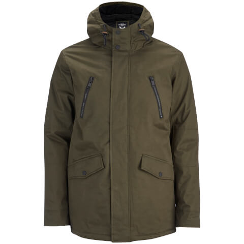 Brave Soul Men's Fingland Coated Parka - Olive