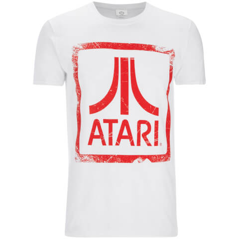 Atari Mens Square Logo T-Shirt - Wit