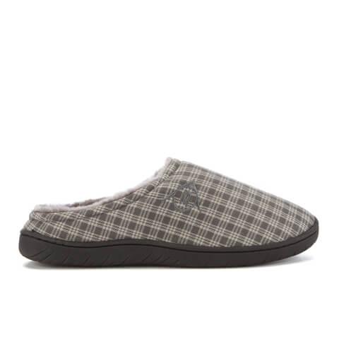 Dunlop Men's Absolon Check Slippers - Grey