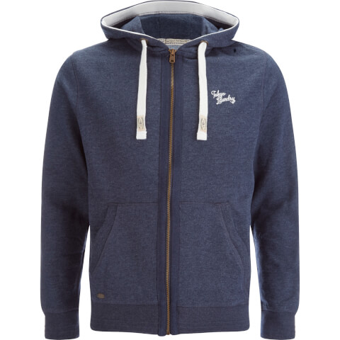 Tokyo Laundry Men's Wood River Zip Through Hoody - Dark Denim Marl