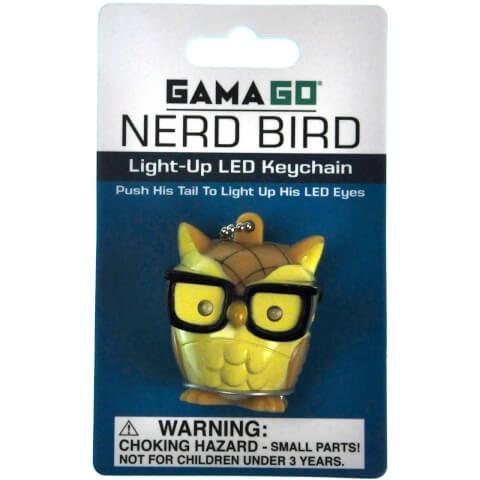 Nerd Bird Light-Up LED Keychain