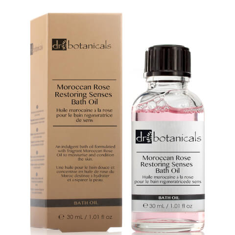 Dr Botanicals Moroccan Rose Restoring Senses Bath Oil 30ml