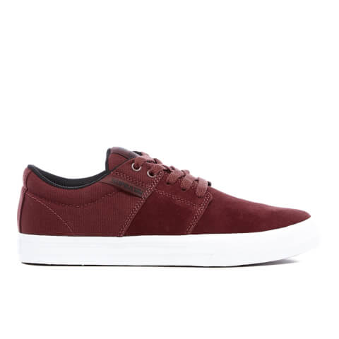 Supra Men's Stacks Vulc II Trainers - Burgundy