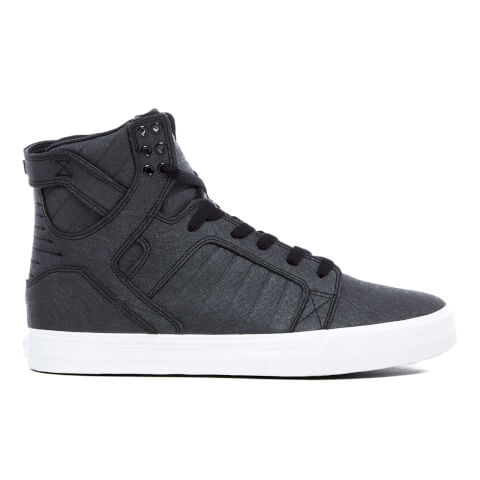 Supra Men's Skytop High Top Trainers - Black Fiberglass/White