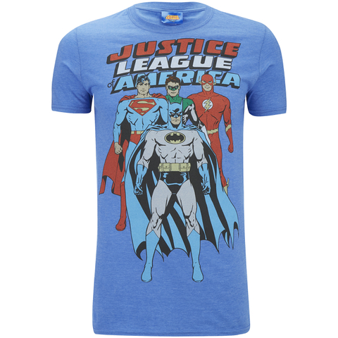 DC Comics Men's Justice League T-Shirt - Heather Royal