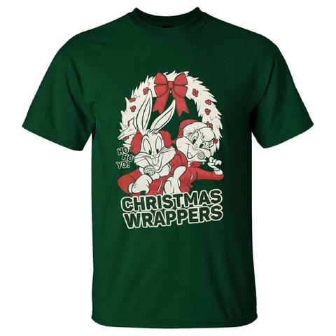T-Shirt Homme Warner Brothers Bugs Bunny de Noël - Vert