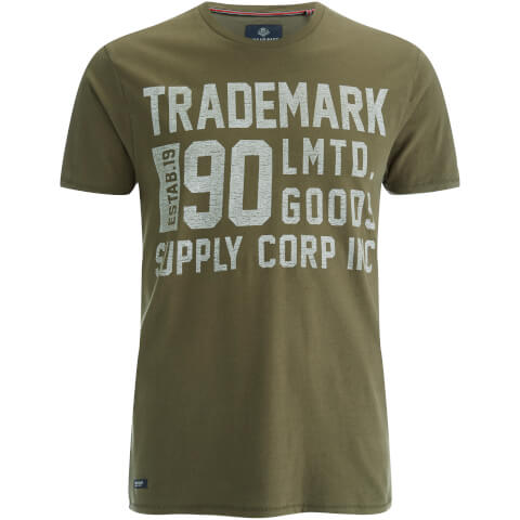 Threadbare Men's Palm T-Shirt - Khaki