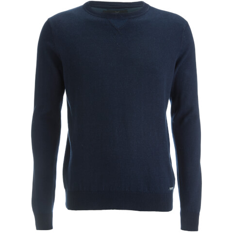 Threadbare Men's Tommy Cotton Crew Neck Casual Jumper - Navy