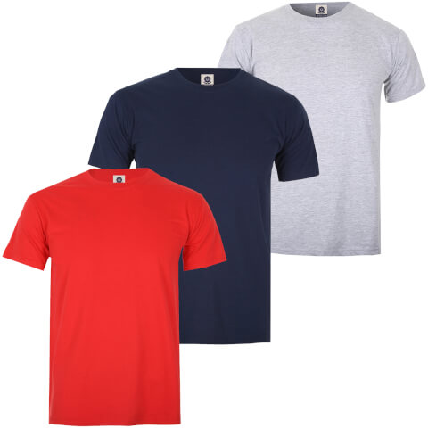Varsity Team Players Men's T-Shirt 3 Pack - Red/Grey/Navy