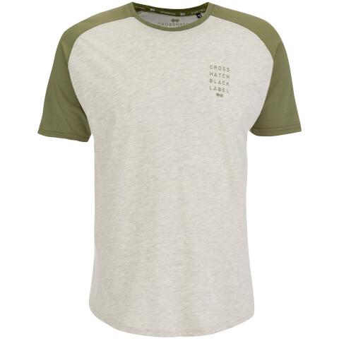 Crosshatch Men's Terrace T-Shirt - Silver Birch Marl/Dusty Olive