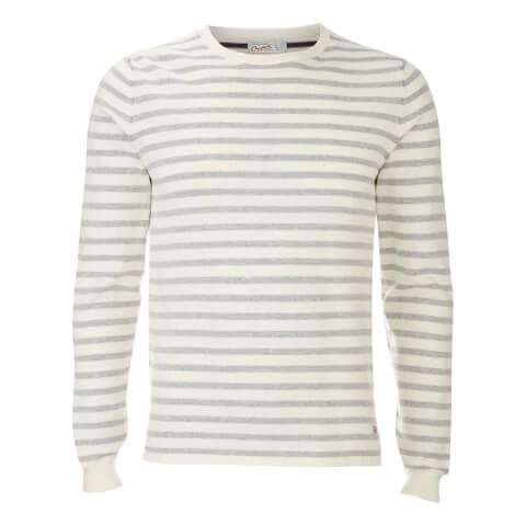 Pull Originals Léo Stripe Jack & Jones -Blanc