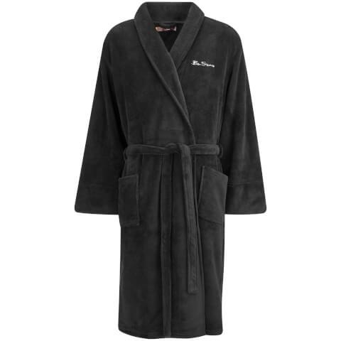 Ben Sherman Men's Fleece Robe - Black
