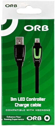 USB to Micro USB 3m LED charge cable
