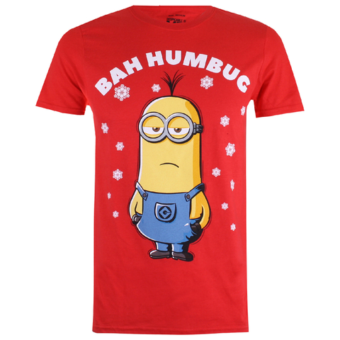 Despicable Me Men's Bah Humbug T-Shirt - Red