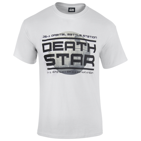 Star Wars: Rogue One Men's Death Star Logo T-Shirt - White