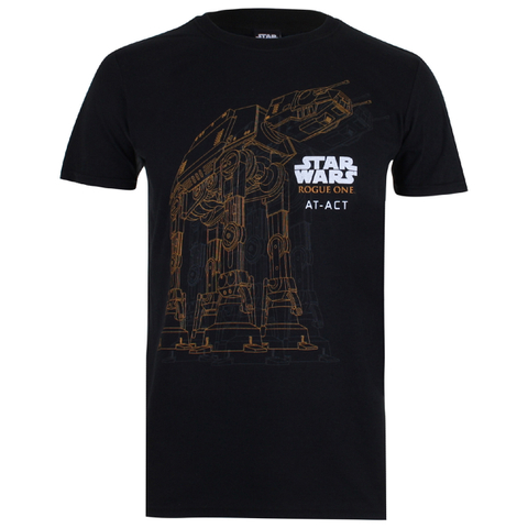 T-Shirt Homme Star Wars Rogue One AT AT - Noir