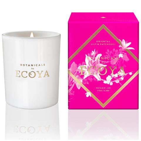 ECOYA Oriental Lily and Patchouli Candle - Botanic Jar