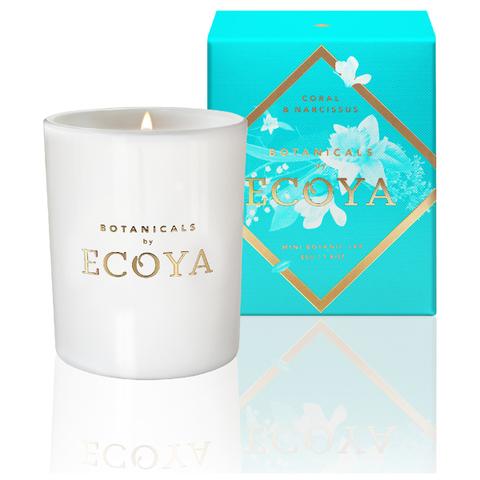 ECOYA Botanicals Evolution Coral and Narcissus Candle - Mini Botanic Jar