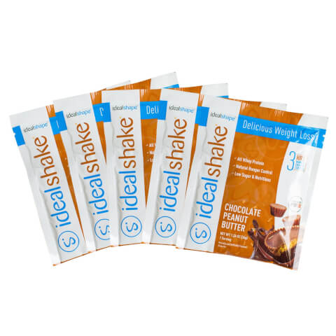 5 IdealShake Chocolate Peanut Butter Samples