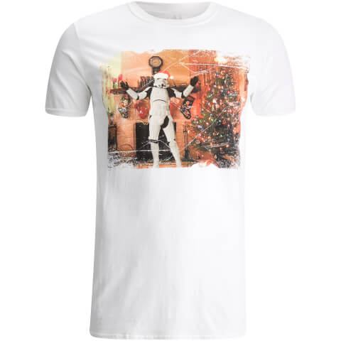 Stormtrooper Men's Christmas Tree T-Shirt - White