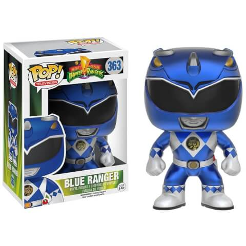 Power Rangers Metallic Blue Ranger EXC Pop! Vinyl Figure