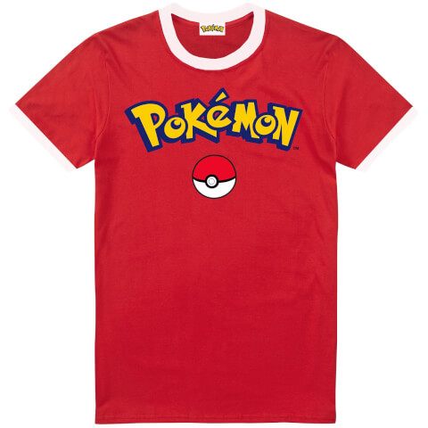Pokemon Men's Logo T-Shirt - Red/White